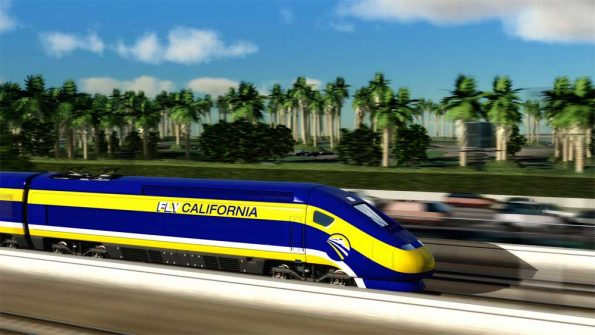 Computer generated image of the proposed high-speed trains for use in California (Photo - California High-Speed Rail Authority).